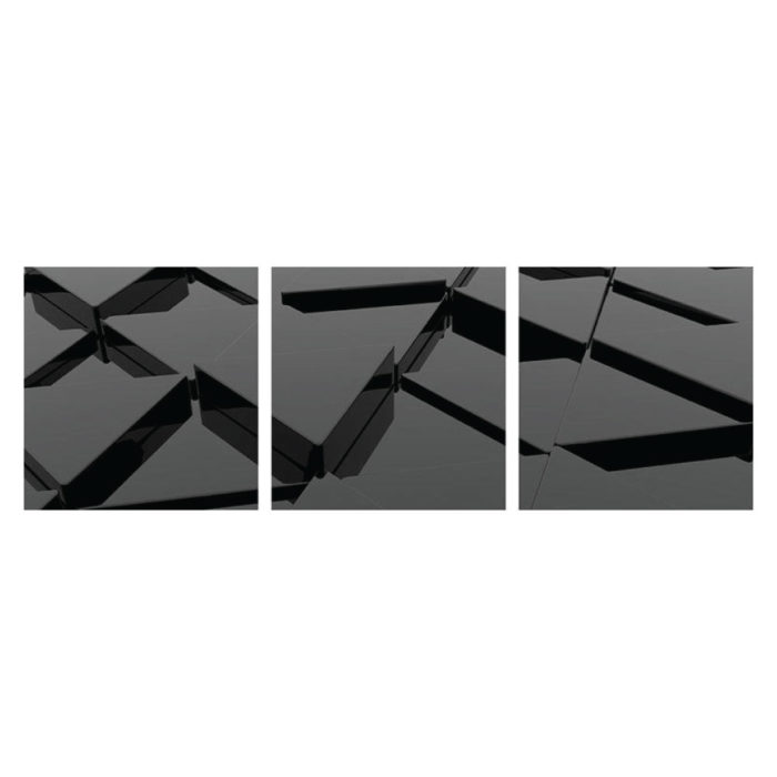 Aluminiumbild 3D minimalistisch modern 3 teilig Panorama quadratisch Bilder