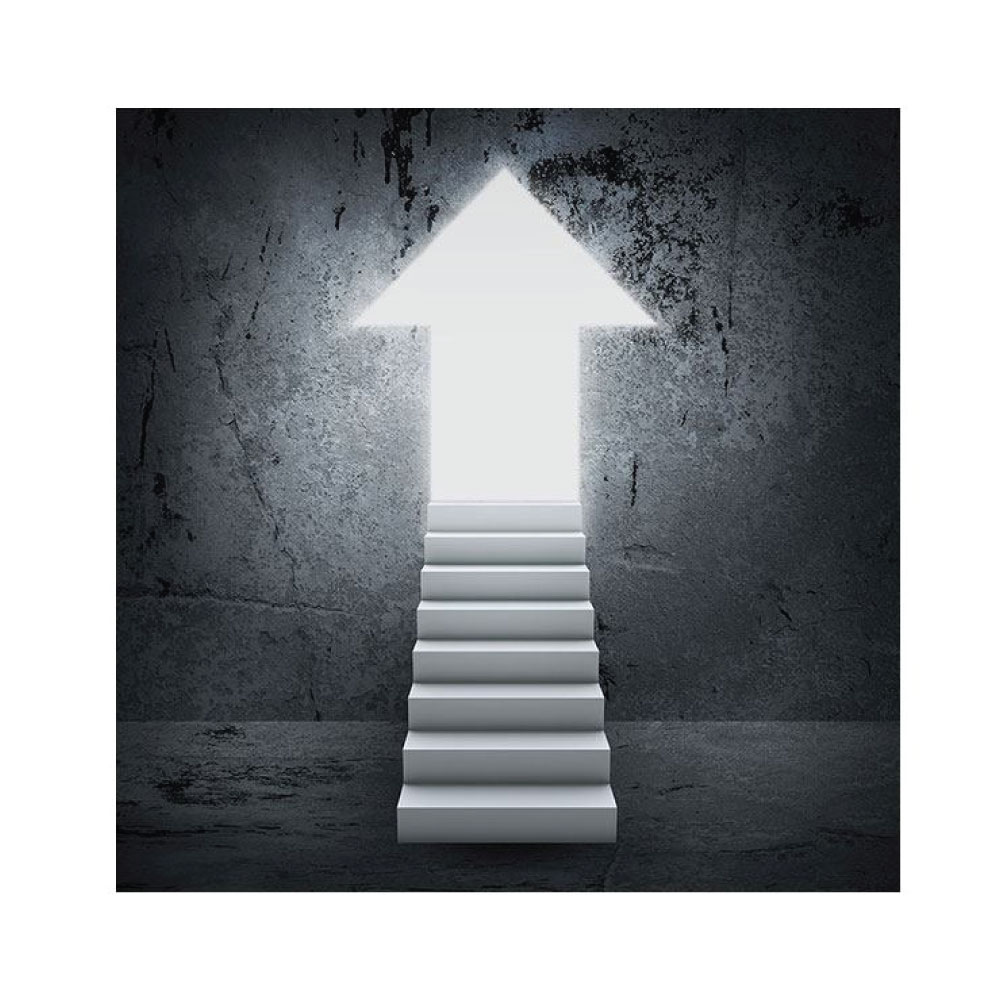 Aluminiumbild Der Aufstieg Motiv quadratisches Bildformat