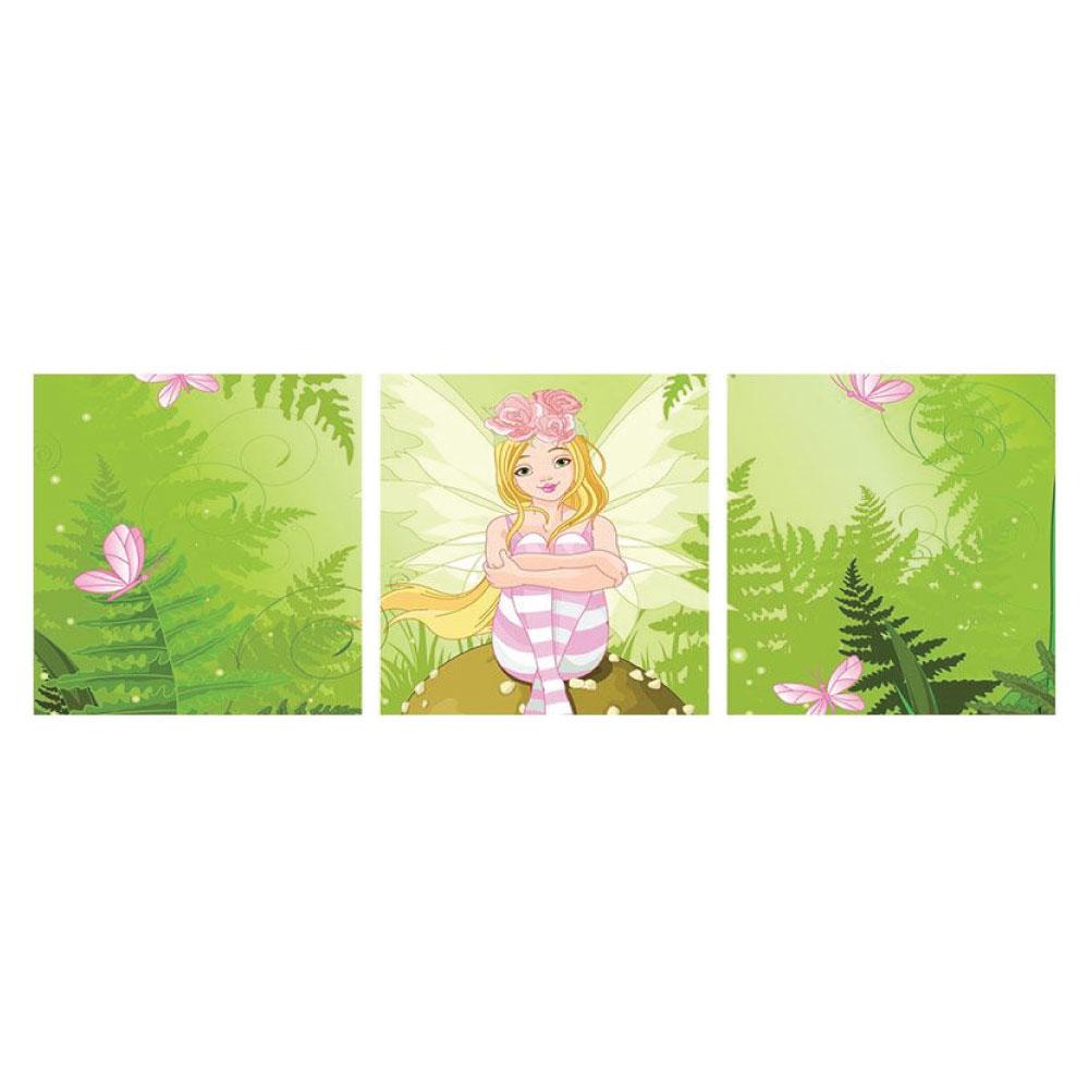 Aluminiumbild Fee Prinzessin 3 teilig Panorama quadratisch Bilder