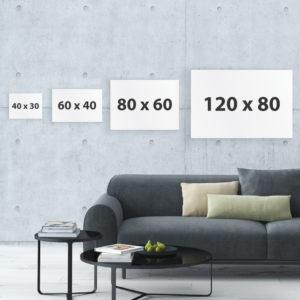 Größen und Dimensionen von Leinwandbildern im Test