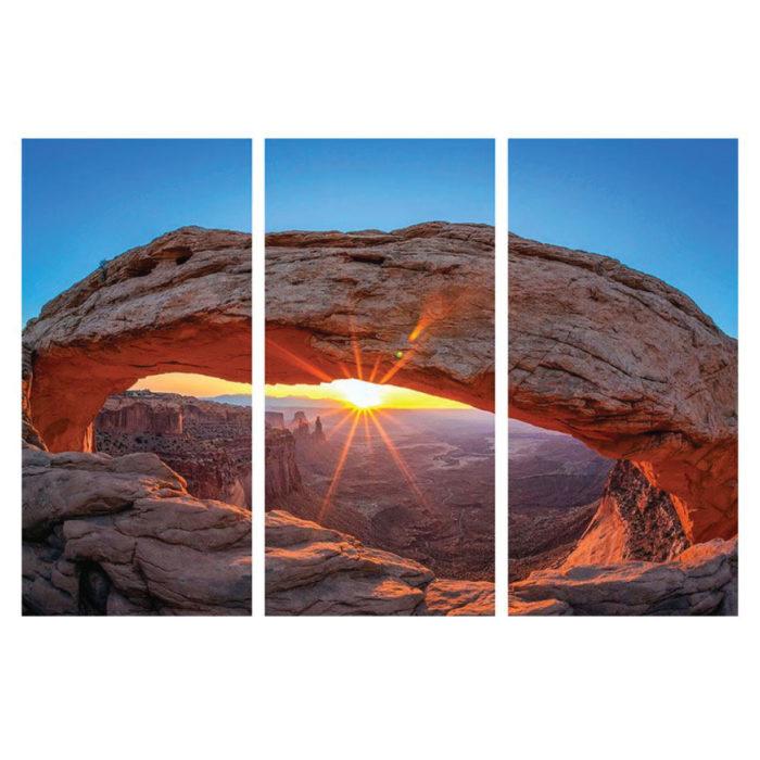 Hartschaumbild Mesa Arch 3 teilig Hochformat Bilder