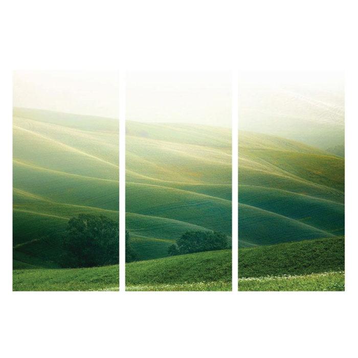Leinwandbild mit Italien Toskana Panorama Motiv Hochformat 3 teilig