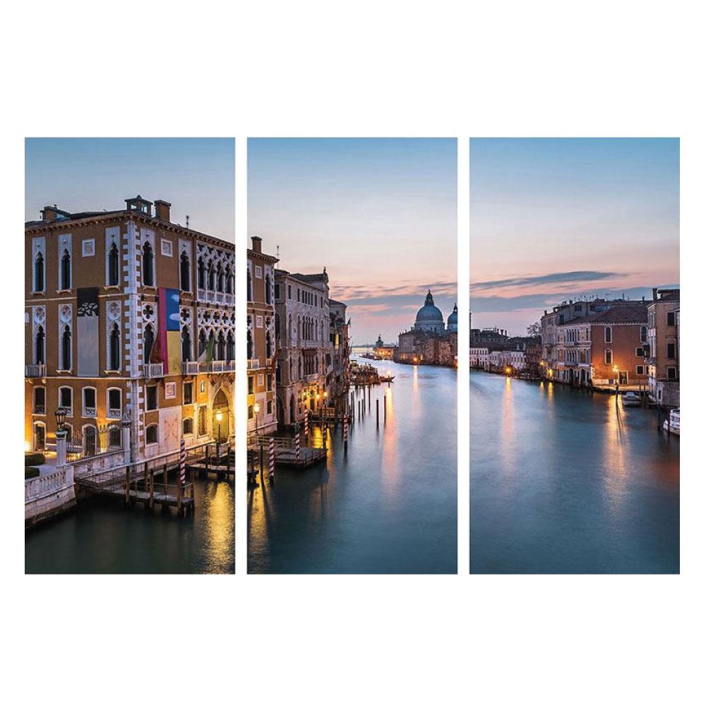 Leinwandbild mit Italien Venedig Panorama Motiv 3-teilig