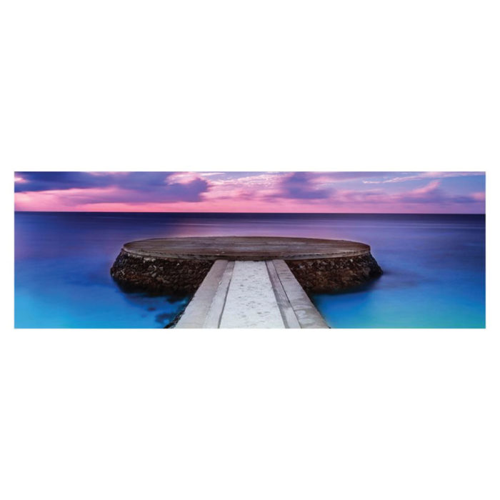 Leinwandbild Panorama Meditation Meer Bild Panorama Format