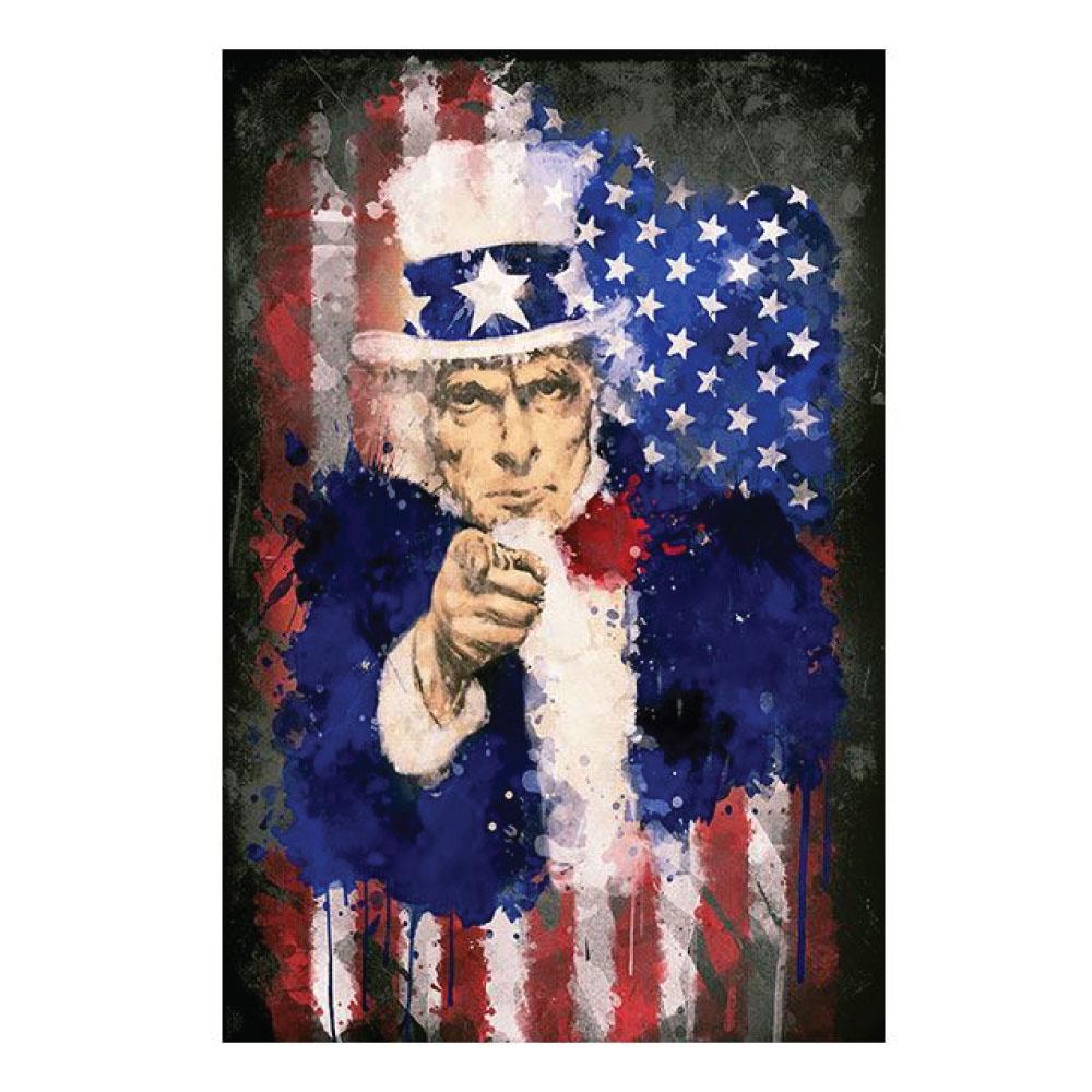 Leinwandbild Uncle Sam Motiv Bild im Hochformat drucken