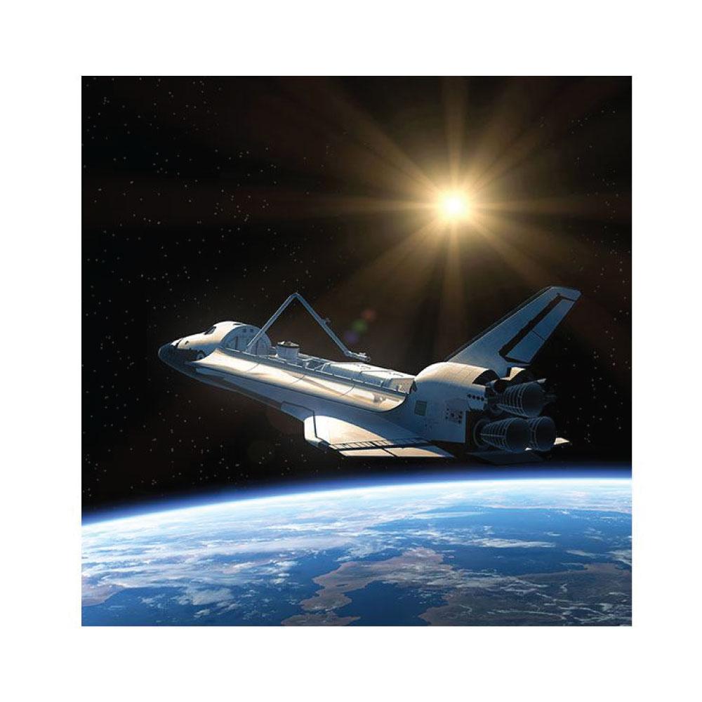 Metallic Bild Das Raumschiff Weltraum quadratisches Bildformat