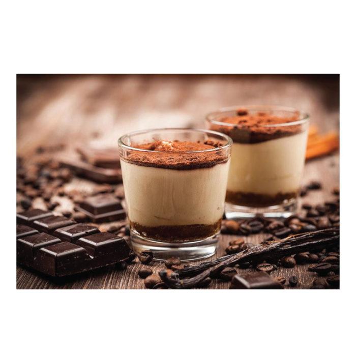 Metallic-Bild italienisches Tiramisu Dessert Rezept Restaurant Motiv
