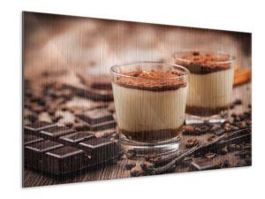 Metallic-Bilder für ein italienisches Restaurant Tiramisu und Schokolade Auswahl im Shop