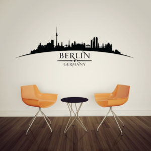 Berliner Skyline Wandtattoo Esszimmer - Große Auswahl an Wandtattoos