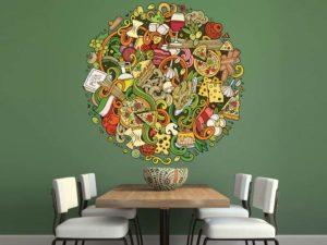 Kreative Wandtattoos für ein Restaurant