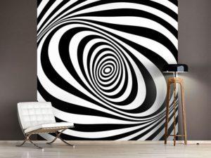 Abstraktes 3D Wandtattoo für das Wohnzimmer