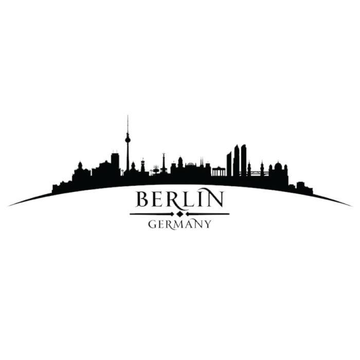 Wandtattoo Berliner Fernsehturm Skyline schwarze Farbe