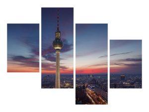 Moderne Bilder für das Wartezimmer mit Berlin Skyline Motiv