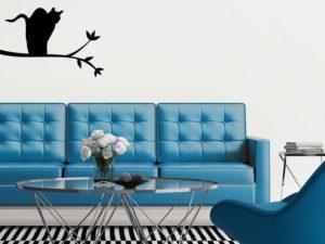 Wandtattoos für das Wohnzimmer modern mit Tier Motiven