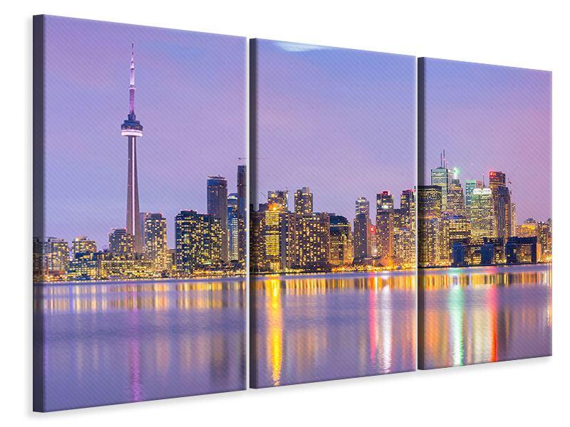 Leinwandbild Skyline Toronto Nacht