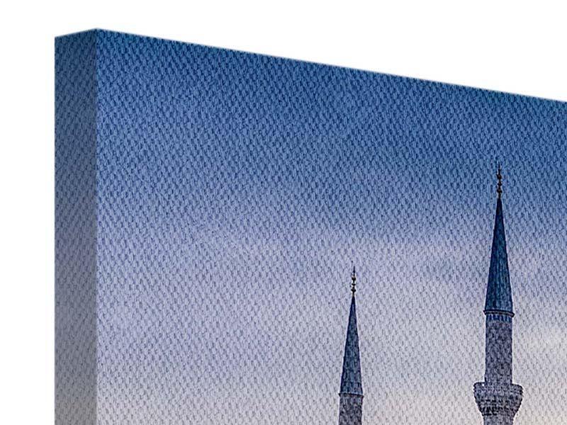 Beste Leinwandbild Grau Istanbul Sultan Ahmed Moschee 3-teilig