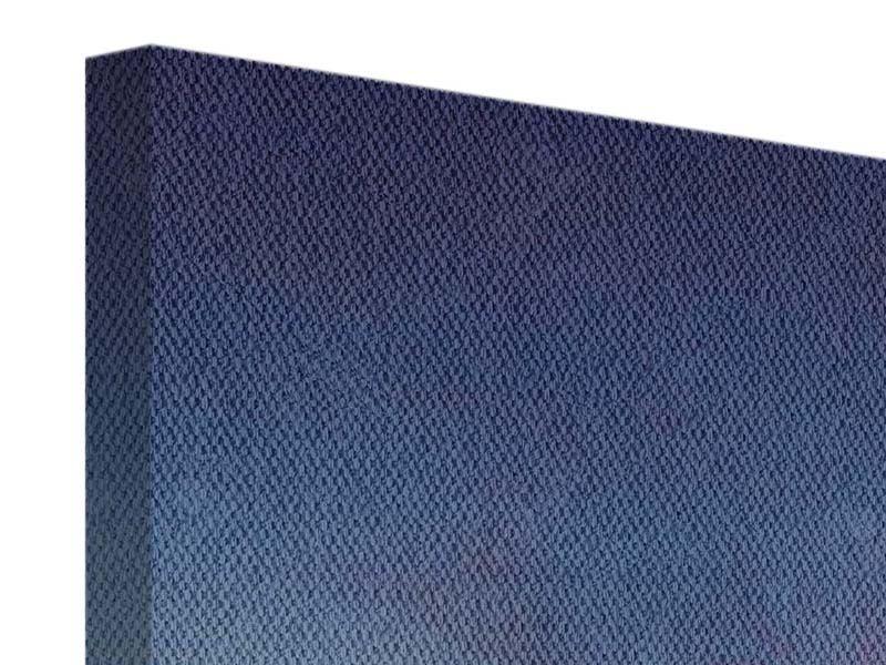 Leinwandbild-3-teilig Fernsehturm Blau