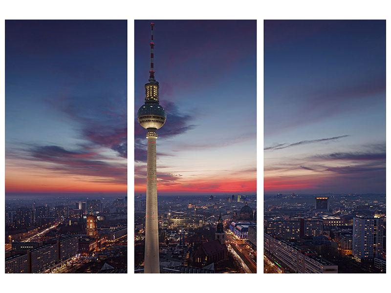 Leinwandbild Fernsehturm Berlin