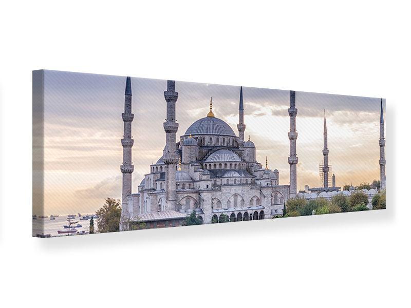 Leinwandbild Grau Panorama Istanbul