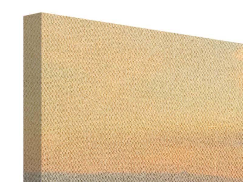 Leinwandbild Orange Skyline Köln Sonnenuntergang Panorama 2