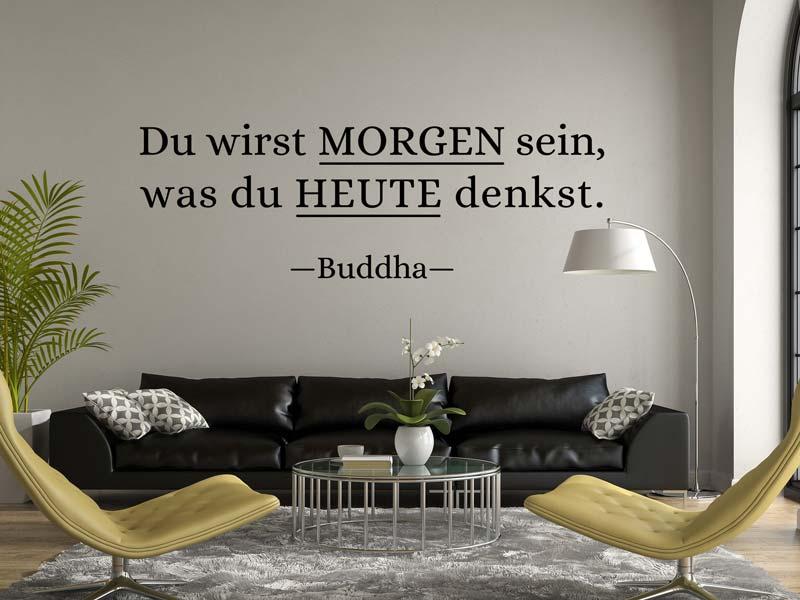 Wandtattoo Gedanken Buddha