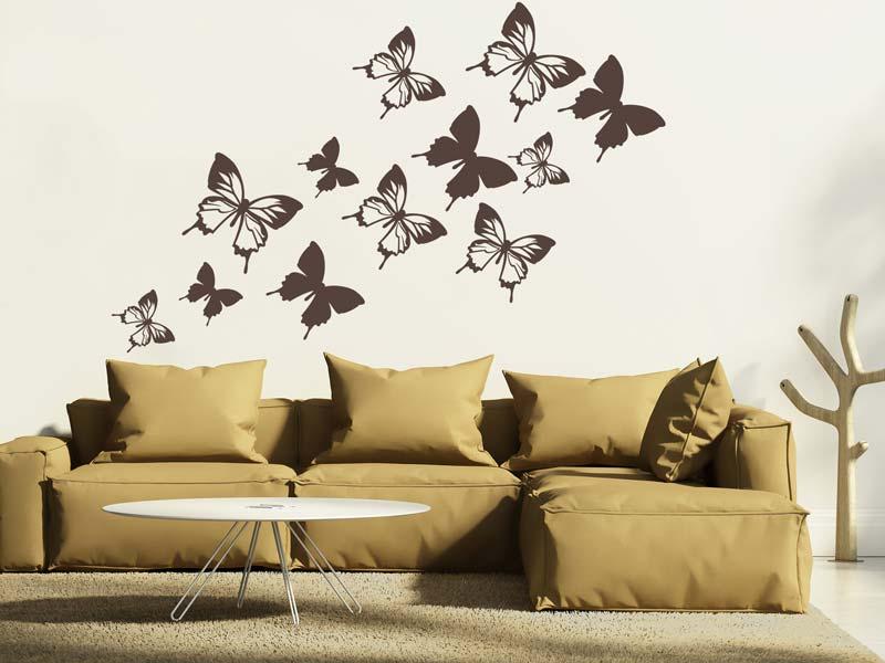 Wandtattoo Natur Schmetterlinge