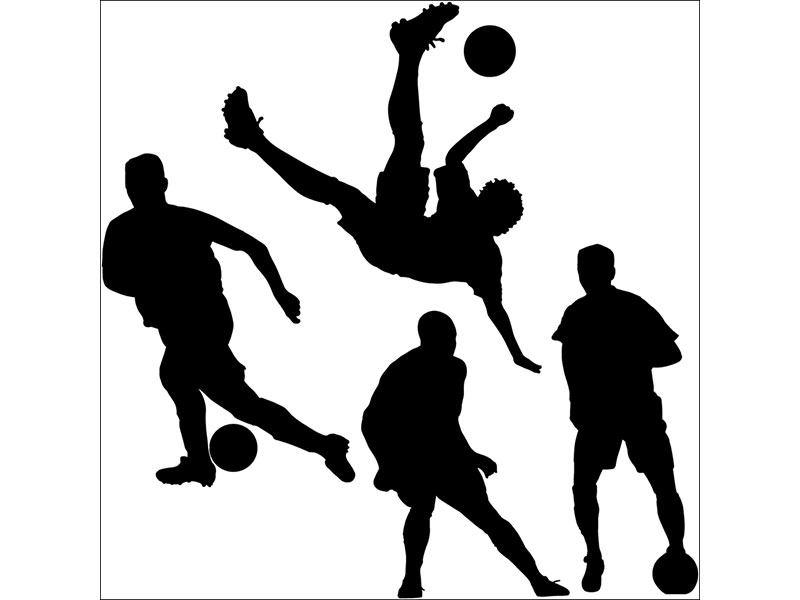 Wandtattoo Sport Fußballspieler