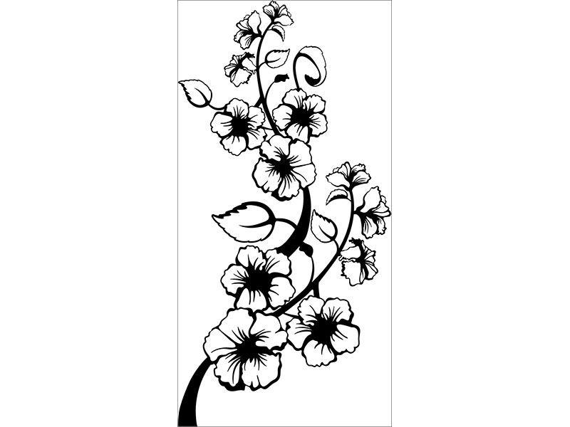 Wandtattoo blühende Blume Ranke