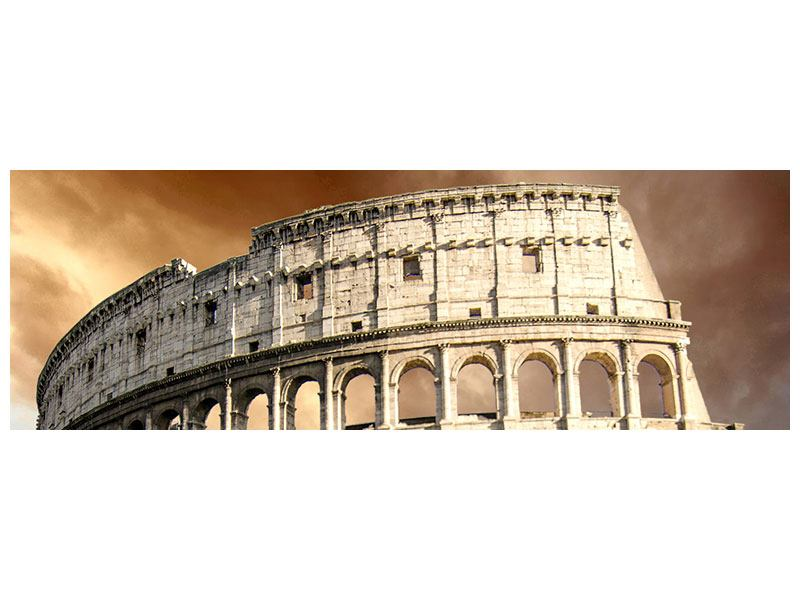 Leinwandbild Beige Panorama Kolosseum Rom