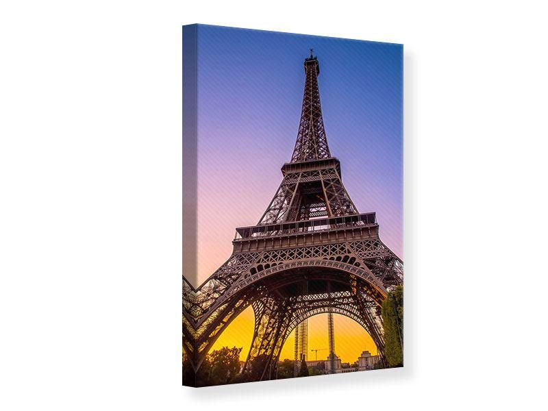 Leinwandbild Blau Eiffelturm Paris hochformat