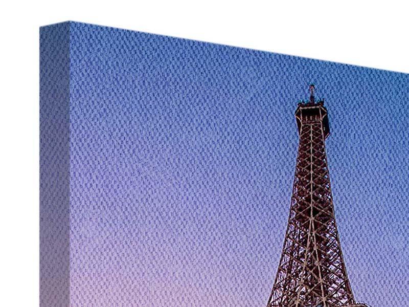 Leinwandbild Blau Eiffelturm