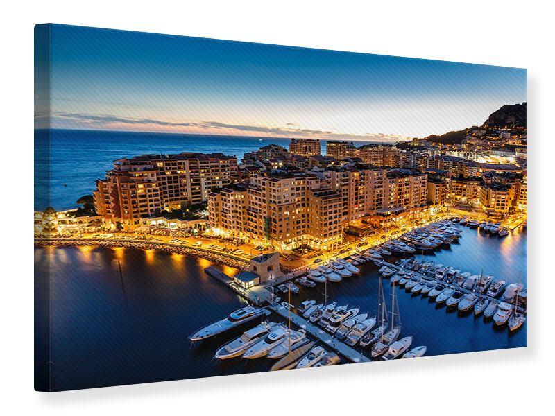 Leinwandbild Blau Monaco querformat