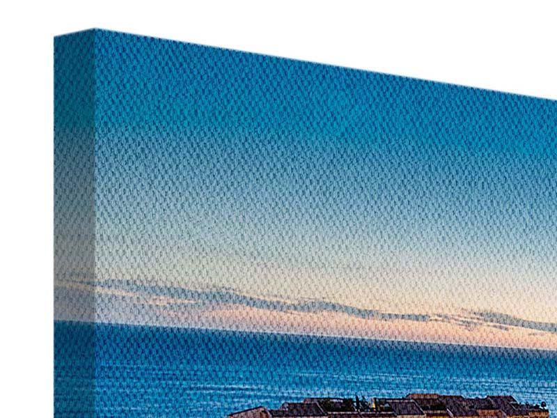 Leinwandbild Blau Monaco