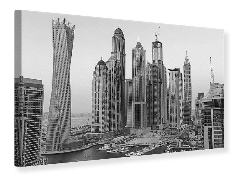 Leinwandbild Grau Dubai querformat