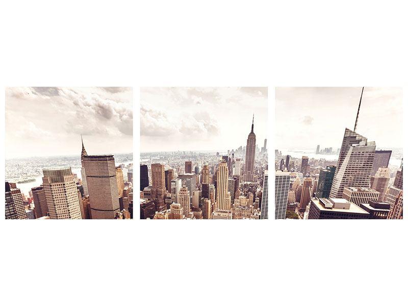 Leinwandbild Grau Manhattan