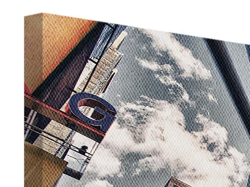 Leinwandbild Grau Times Square Farbe