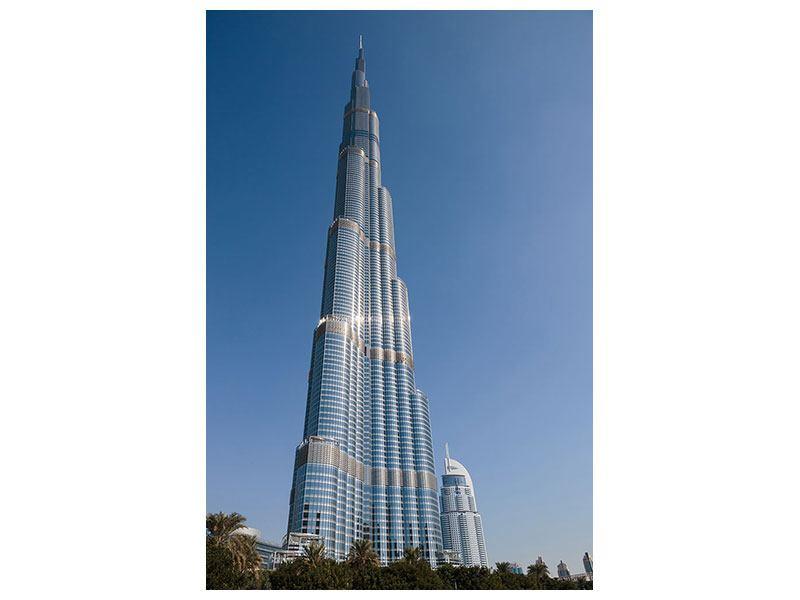 Leinwandbild Hochformat Wolkenkratzer Dubai
