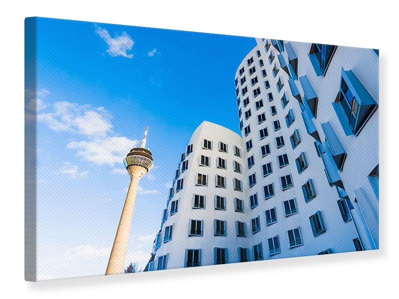 Leinwandbild Neuer Zollhof Duesseldorf