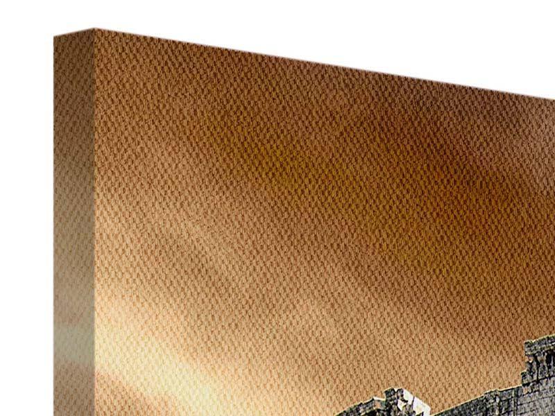 Leinwandbild Panorama-Kolosseum Rom Querformat