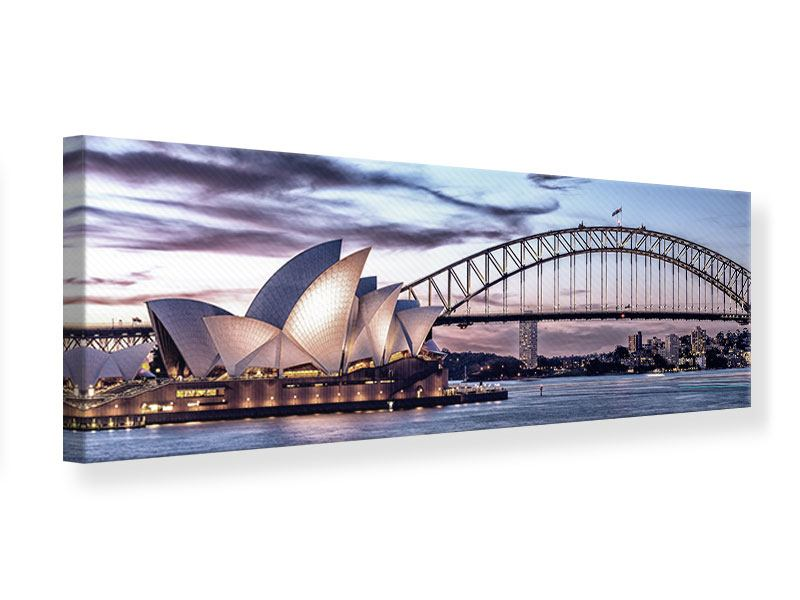 Leinwandbild Panorama Skyline Sydney Opera House