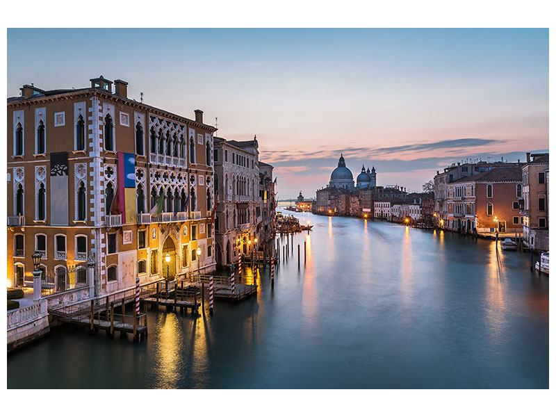 Leinwandbild Querformat Romantisches Venedig