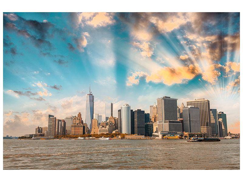Leinwandbild Querformat Skyline New York from the other-Side