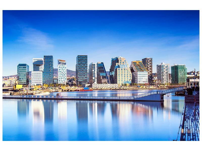 Leinwandbild Querformat Skyline Oslo