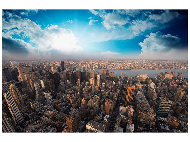Leinwandbild Querformat Skyline Ueber den Daechern von Manhattan