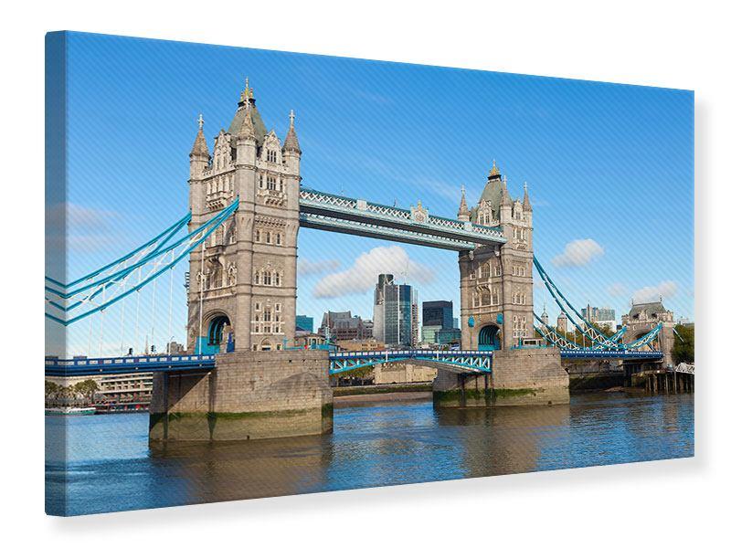 Leinwandbild Querformat die Tower Bridge in London bei Tag
