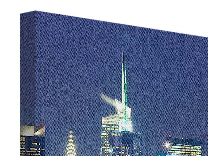 Leinwandbild Skyline New York Midtown bei Nacht querformat