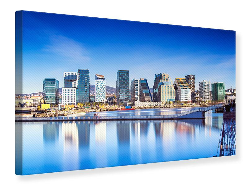 Leinwandbild Skyline Oslo