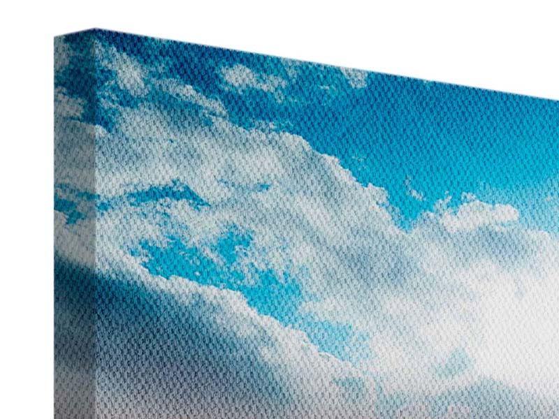 Leinwandbild Skyline Ueber den Daechern von Manhattan bei Tag
