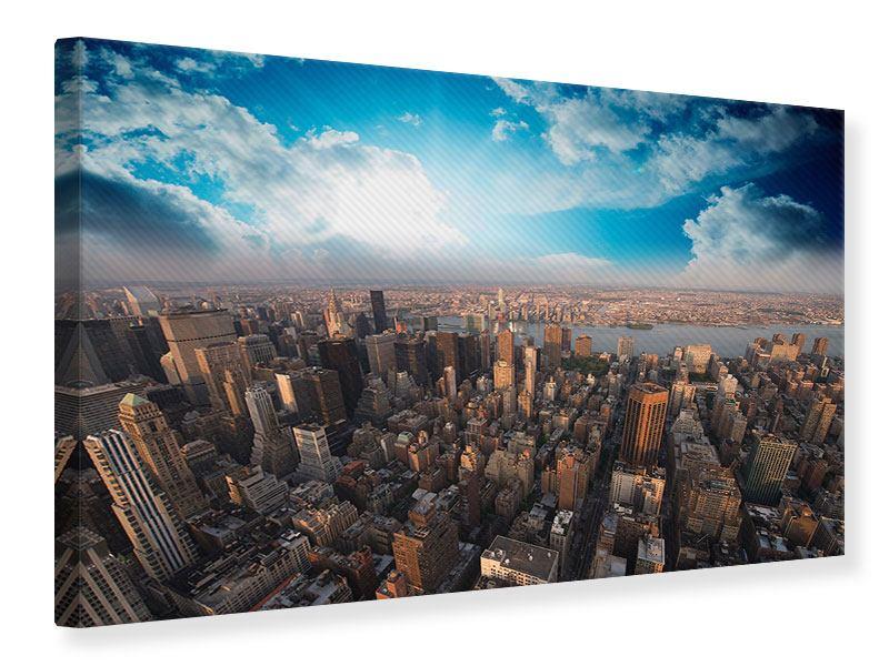 Leinwandbild Skyline Ueber den Daechern von Manhattan