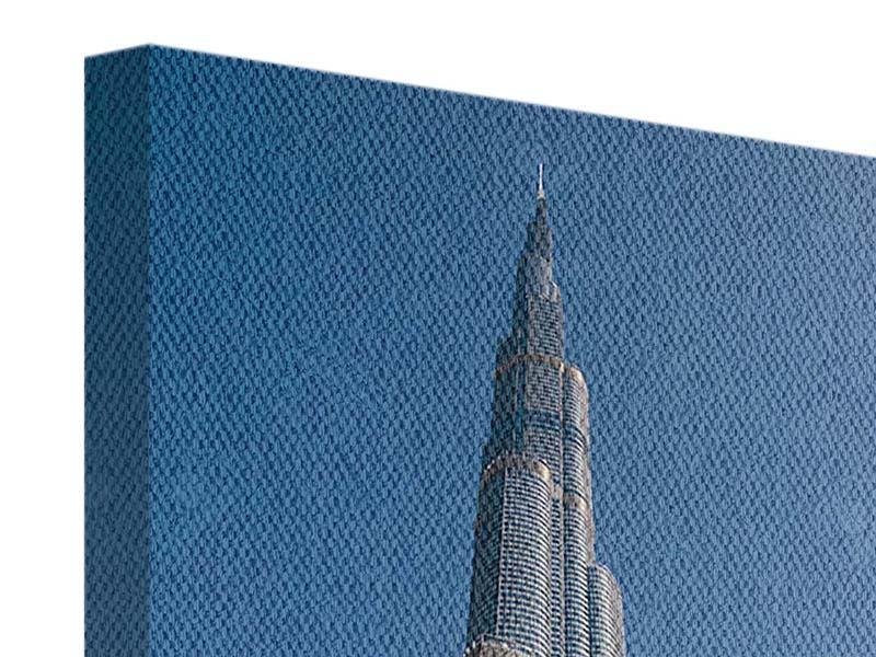 Leinwandbild Skyline Wolkenkratzer Dubai